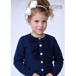 Megztukas Polly Cardigan Navy blue