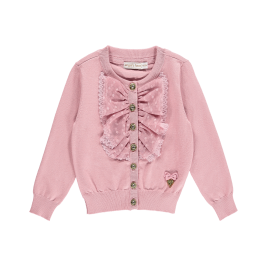 Megztukas Polly Cardigan Tea Rose