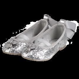 Bateliai Lulu Toddler Pumps Silver