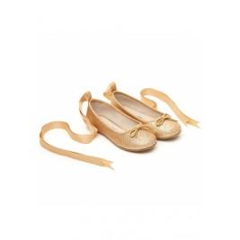 Bateliai Ballet Pumps Gold Glitter
