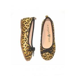 Bateliai Ballet Pumps Gold Leopard