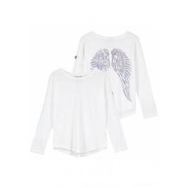 Palaidinė Long Sleeve Slouch Wings Snowdrop
