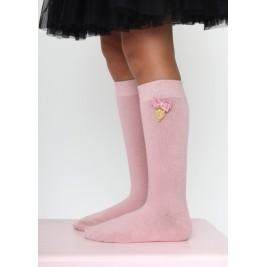 Kojinės iki kelių Vintage Rose Charming Socks