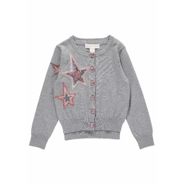 Megztukas Three Star Cardigan Ash Grey