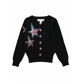 Megztukas Three Star Cardigan Black