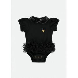 Glaustinukė kūdikiui su juodu tutu sijonėliu