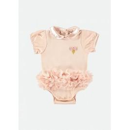 Glaustinukė kūdikiui su rausvu tutu sijonėliu