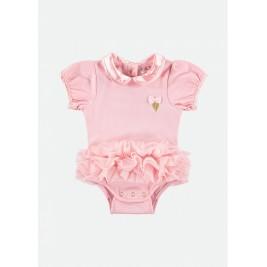 Glaustinukė kūdikiui su rožiniu tutu sijonėliu