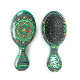 Plaukų šepetys mini Mandala žalias
