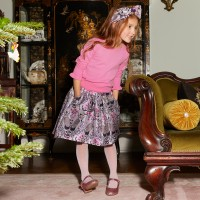 Angel`s face purple jacquard skirt